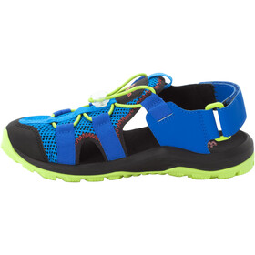 Jack Wolfskin Outdoor Action Sandali Bambino, blue/lime